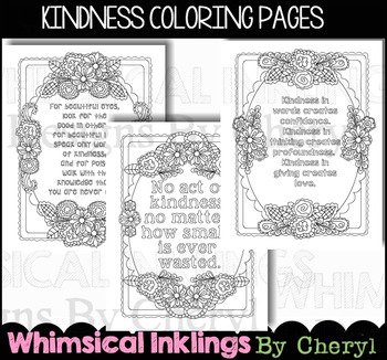 Kindness Coloring Pages Teaching Resources