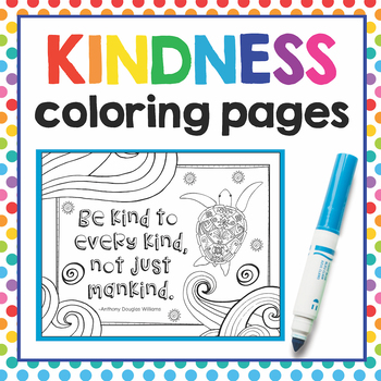 Kindness Coloring Page Teaching Resources