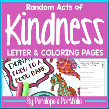 Random Acts of Kindness Printables:  Random Acts of Kindness Coloring Pages