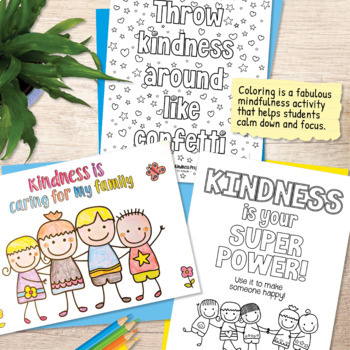 Kindness Coloring Pages - US Letter Format