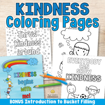 Kindness Coloring Pages US Letter Format TpT