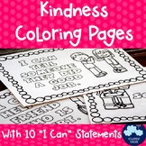 Kindness Coloring Pages with I Can Statements (Back to School)