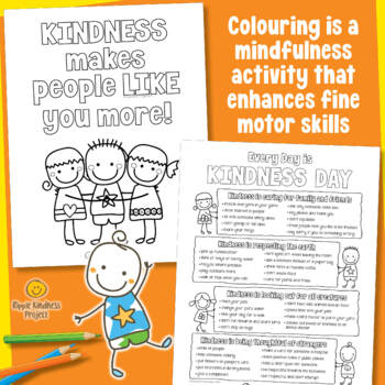 Kindness Colouring Pages - A4 Format