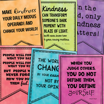 Kindness & Empathy Quotes BUNDLE (Bulletin Boards, Character Ed, Class Decor)