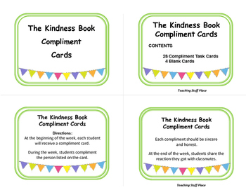 Kindness   Compliment TASK CARDS for the Entire Year   Character Education 4-5-6