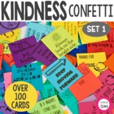 Kindness Confetti Inspirational Cards - Kindness Activity