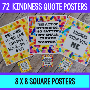 Kindness Confetti Quote Cards and Posters