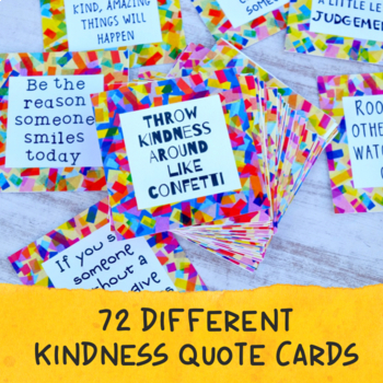 Kindness Quote Cards and Kindness Posters | Kindness Confetti