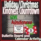 Kindness Countdown Advent Holiday Christmas Bulletin Board
