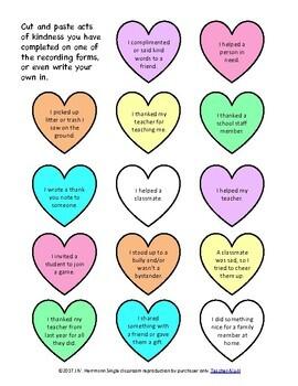 Random Acts of Kindness- Kindness Counts Bulletin Board Display or Door Decor