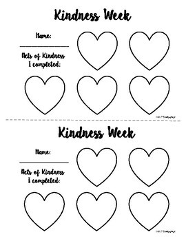 Random Acts of Kindness- Kindness Counts Bulletin Board Display or Door Decor