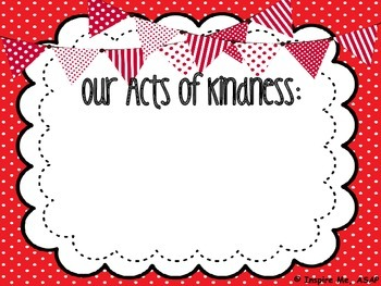 Kindness Counts Bulletin Board Poster: FREEBIE :)