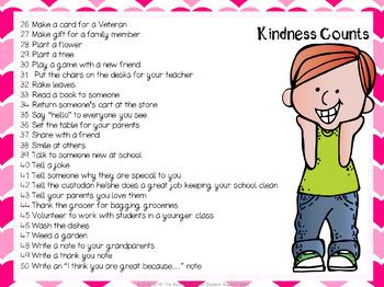 Kindness Counts Challenge  