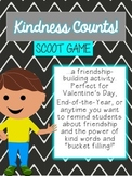 Kindness Counts Scoot Game, End of the Year Writing to Promote Bucket Filling