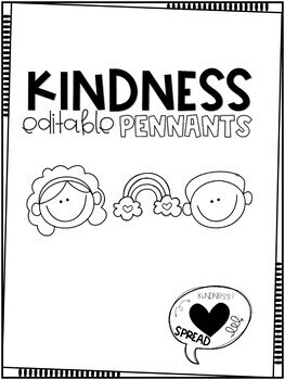 Kindness Day Pennant | Banner | R.A.K | EDITABLE PPT Templates