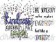 Kindness Doodles Digital Clip Art Set- Color and Black Line COMBO