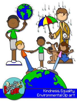 Kindness, Environmental, Equality Clipart FREEBIE