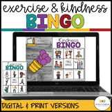 Kindness & Exercise Interactive BINGO Games: Digital and P