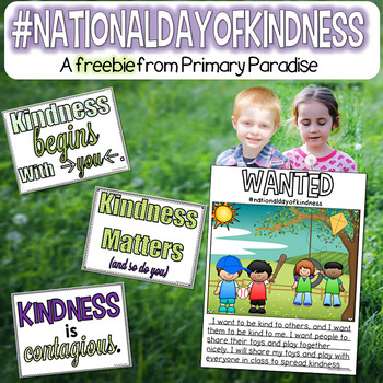 Kindness Freebie: National Day of Kindness