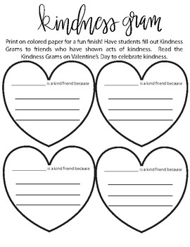Kindness Gram- by Perriwinkle Patch | Teachers Pay Teachers