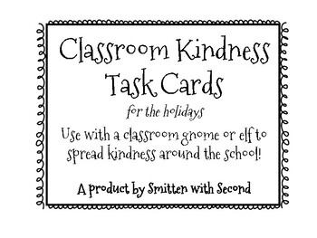 Kindness Holiday Task Cards