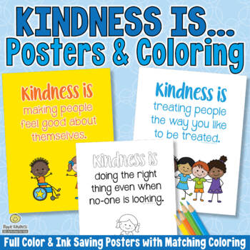 Kindness Is... Character Education Posters for Classroom Display - US Letter