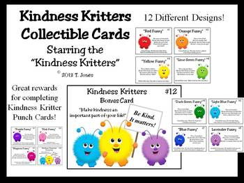 Kindness Kritters Collectible Cards - Rewards