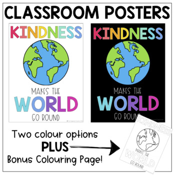 Kindness Makes the World go Round Poster
