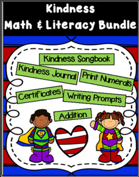 Kindness Math and Literacy Bundle