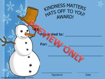 Kindness Matters Awards Certificates