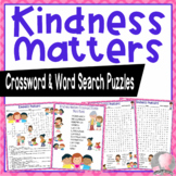 Kindness Activities Choose Kindness Crossword Puzzle and Word Searches