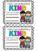 Kindness Matters Certificates
