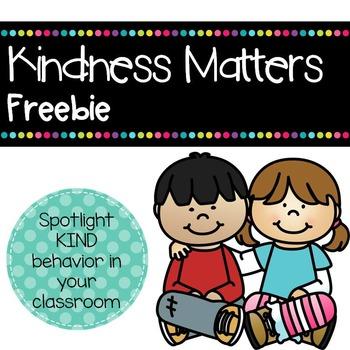 Kindness Matters Certificates #kindnessnation