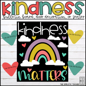 Kindness Matters February March Bulletin Board Door Decor Or Poster