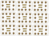 Kindness Matters Punchcards (Gold Paws)