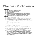 Kindness Mini-Lesson