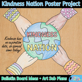 #kindnessnation Collaboration Poster Art Project for Martin Luther King Jr.}