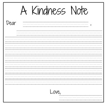Kindness Note Freebie!