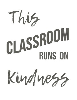Kindness Classroom Poster