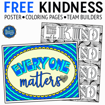 Kindness Poster and Bookmarks FREE