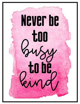 Kindness Poster Freebie!