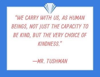 Kindness Poster (Mr. Tushman from Wonder)