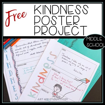 Kindness Poster Project with quote, haiku, and tips
