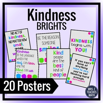 Kindness Posters for Back to School