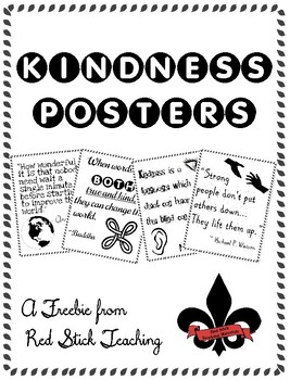 Kindness Posters--FREE