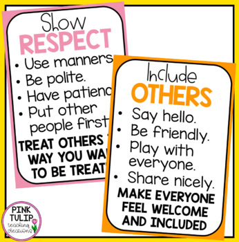 Kindness Posters - Values and Respect in the Classroom
