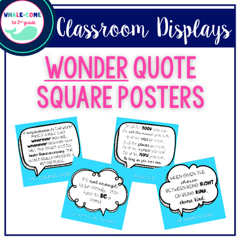 Kindness Posters: Wonder