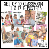 Kindness Posters for Early Education Classrooms for Social
