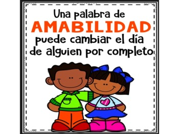 Kindness Posters in Spanish - Posters de bondad