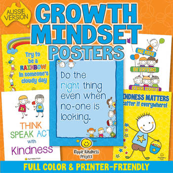 Kindness Posters to Build Character & Positive Relationships - A4